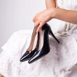 Pantofi dama cu toc negri Nuira