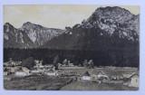 BUSTENI - VEDERE DE PE VALEA ALBA SPRE MUNTII JEPI SI CARAIMAN , CARTE POSTALA ILUSTRATA , MONOCROMA, CIRCULATA , DATATA 1912