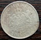 (A80) MONEDA DIN ARGINT ROMANIA - 200 LEI 1942, REGELE MIHAI I, DETERIORATA