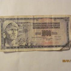 CY - 1000 dinara dinari 1981 Iugoslavia Yugoslavia