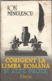 Corigent la limba romana si alte proze - Ion Minulescu