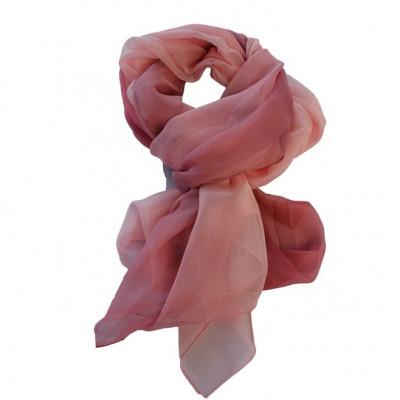 Esarfa fashion de culoare roz,bleumarin,cremj din material fin foto