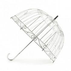 Umbrela transparenta tip clopot-colivie
