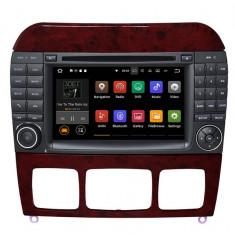 "Navigatie GPS Auto Audio Video cu DVD si Touchscreen 7 "" inch Android 7.1, Wi-Fi, 2GB DDR3 Mercedes-Benz S-Class W220 1998-2005 + Cadou Soft si Harti"