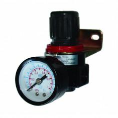 Regulator aer cu ceas Raider, surub 1/4, 10 bar