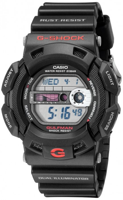 Casio G-9100-1ER Gulfman ceas barbati 100% original. Garantie. Livrare rapida.