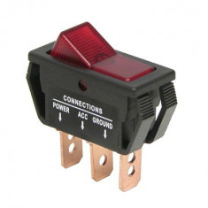 Intrerupator auto Carpoint 12V 20A On/Off 11,60 x 30,90 mm cu 3 papuci electrici