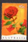 Australia 1997, Flora, Trandafiri, serie stampilata