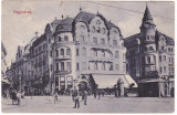 "#Z.2292- Ro, Nagyvarad, Oradea c.p. circulata 1911: Hotel ""Fekete sas"", animat, Fotografie"