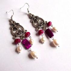 Cercei sidef si perle naturale 33965