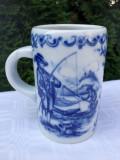 Cumpara ieftin Impresionanta halba din portelan german HUTSCHENREUTHER 1814 - pescari, Decorative
