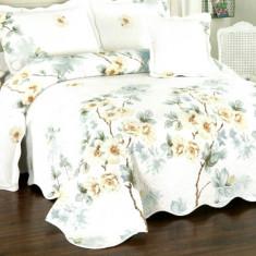Cuvertura de pat + 4 Fete de Perna - Pat 2 Persoane - 100% Bumbac - E-S52