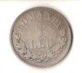 SV * Romania   LOT   1  LEU  si  2  LEI  1873  ARGINT .835  *  REGELE CAROL I