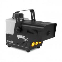 Beamz Rage 600LED, mașină de fum, 600 W, 65 m³/min., 3 x LED, 0,5 l, telecomandă prin cablu
