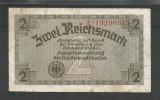 GERMANIA  NAZISTA  2 MARCI  REICHSMARK  1940 [17] P- 137b  , 8 cifre  , Litera F