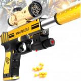 PISTOL AIRSOFT CU BILE 6MM,KUMBLEBEE GUN,DEMONTABIL,LASER+500 BILE INCLUSE.NOU.