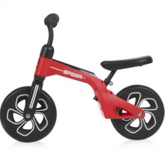 Bicicleta de Tranzitie pentru Copii Spider, fara Pedale si Roti Mari, Colectia 2019 Red