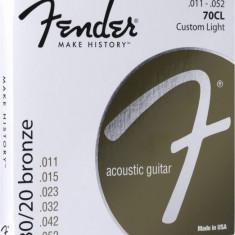 Corzi chitara acustica Fender 70CL 80/20 Bronze 11-52