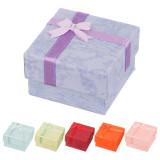 Cutie de cadou pentru cercei - nuanțe pastel de marmură cu fundiță - Culoare: Verde