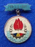 Insigna PIONIER DE FRUNTE - medalia DISTINS CU TITLUL PIONIER DE FRUNTE - alama
