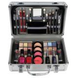 Cumpara ieftin Valiza Profesionala Machiaj, Multifunctionala, Magic Color Makeup Kit, Silver Diamond