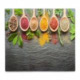 Cumpara ieftin Placa din sticla protectie perete/plita, Spices, L56xl50 cm