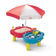 Masuta pentru copii pentru nisip si apa cu umbreluta Little Tikes