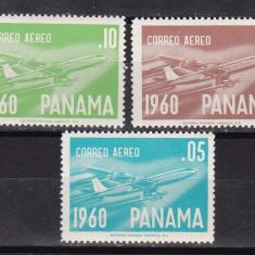 Panama  1960  aviatie  MI 580-82    MNH  w60, Nestampilat