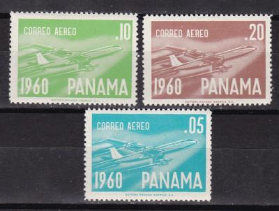 Panama  1960  aviatie  MI 580-82    MNH  w60 foto