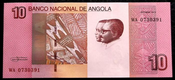 Angola 10 Kwanzas 2012 UNC necirculata  **
