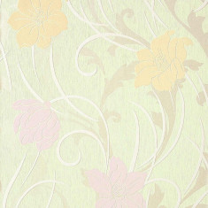 Tapet verde mode floral lucios cu fundal mat 111-35
