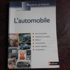 L'AUTOMOBILE - J. SAUVY (CARTE IN LIMBA FRANCEZA)