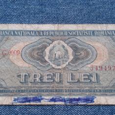 3 Lei 1966 bancnota Romania