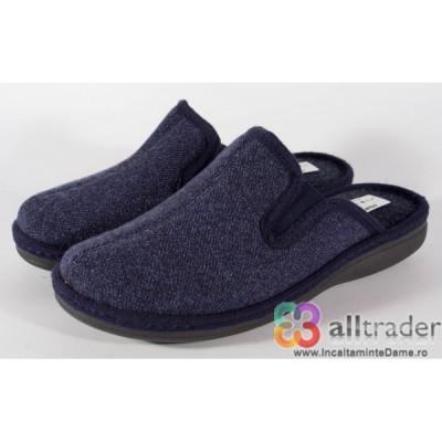 Papuci de casa bleumarini pentru barbati/barbatesti (cod 191008) foto