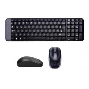 Kit tastatura + mouse Logitech MK220 fara fir negru
