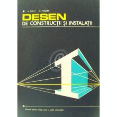 Desen de constructii si instalatii. Manual pentru licee, anul I, profil constructii