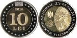 Moldova 10 Lei 2018 Comemorativa bimetal UNC din fisic **