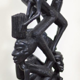 Arta africana Makonde Tree of Life  din Mpingo Tanzania  sculptură lemn