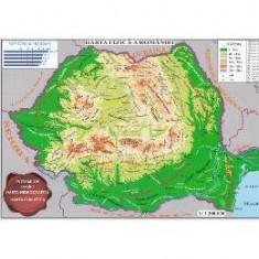 Harta fizica a Romaniei + Harta administrativa a Romaniei 1:3.200.000 (pliata)
