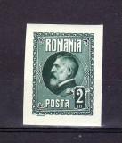 Romania  1926   A  60 - a aniversare  Ferdinand I - 2 lei  Nedantelat  MNH