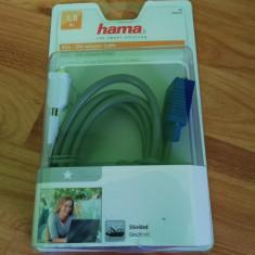 NOU SIGILAT Cablu adaptor Hama DVI I la VGA, 15pini, Single link