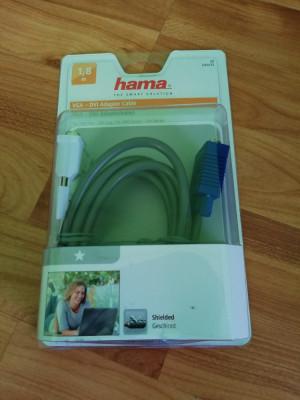 NOU SIGILAT Cablu adaptor Hama DVI I la VGA, 15pini, Single link foto