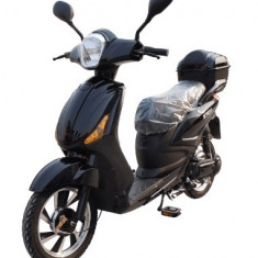 Bicicleta electrica, tip scuter, fara carnet si inmatriculare ZT-09-AL LI-ION NEGRU