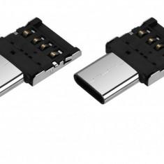 Mini adaptor otg usb type-c la usb - nou