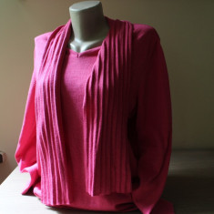 Pulover Peter Hahn rozuliu, designer, 57% lana, 43% bumbac - PRET SPECIAL, Rose