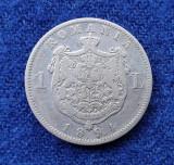 Moneda din argint 1 Leu 1894 Regele Carol Romania