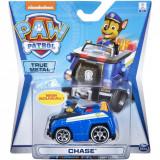Masinuta cu figurina Paw Patrol True Metal, Chase 20115874