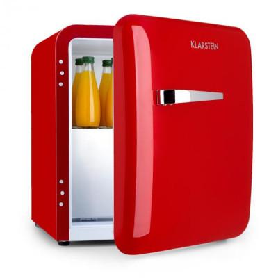 Klarstein Audrey, mini frigider, clasa de eficiență energetică A+, congelator, LED, roșu foto