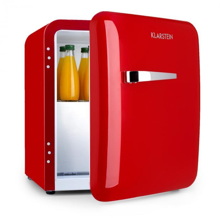 Klarstein Audrey, mini frigider, clasa de eficiență energetică A+, congelator, LED, roșu