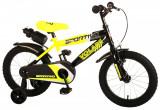 Bicicleta pentru baieti Volare Sportivo, 16 inch, culoare Negru/Galben neon, fraPB Cod:2064